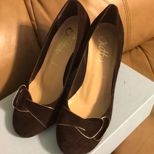Butter Wedge Pinto Brown Shoes